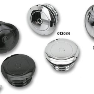 FLUSH MOUNT GAS CAP BLACK 012067