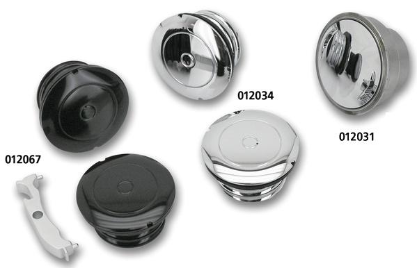 FLUSH MOUNT GAS CAP BLACK 012067
