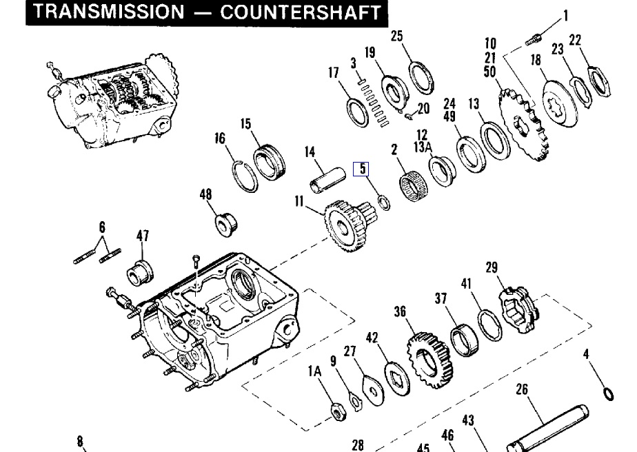 Oil Seal Main Drive Gear 12013A