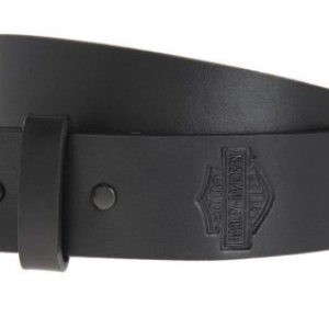 MEN'S PLAIN&SIMPLE BAR&SHIELD BELT STRAP