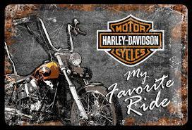 Harley-Davidson tin sign - 22174
