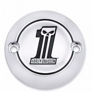 Number One Skull Timer Cover '17-later Milwaukee Eight Models 25600065