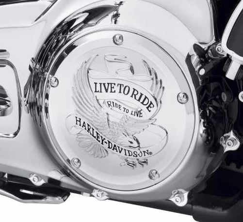 Live to Ride Derby Cover chrome 25700471