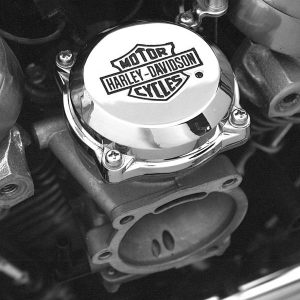 Chrome Bar & Shield Logo CV Carburetor Top Cover 27040-88T