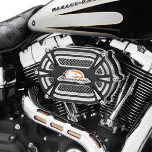 Extreme Billet Ventilator Air Cleaner Kit - cut back black 29400164