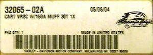 CARTRIDGE VRSC W/16GA  32065-02A