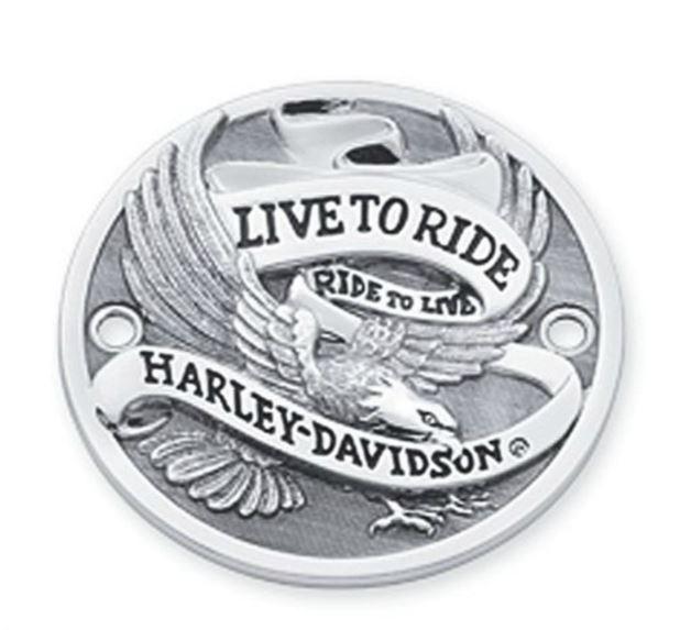 Timer Cover Live To Ride Chrome Horizon Holes 32581-85T