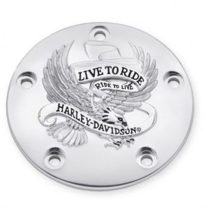 "Timer Cover. The Harley-Davidson ""Live To Ride"" Collection.99-LATER Chrome 32698-02A"