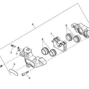 front brake pad set 41300102