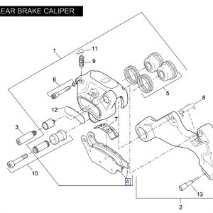 REAR BRAKE PAD SET 42298-08
