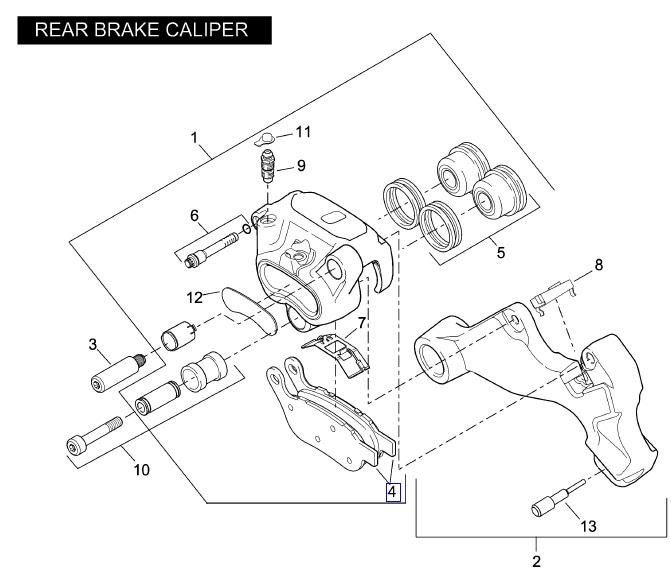 REAR BRAKE PAD SET 42298-08