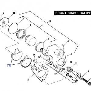 BRAKE PAD SET FRONT 44063-83C