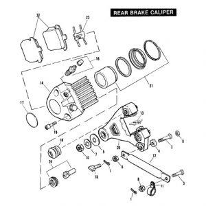 REAR BRAKE PAD SET 44209-82A