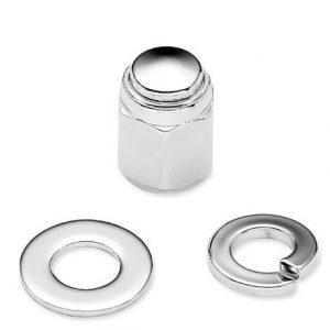 Fork Axle Retainer Nut Kit - Chrome 45802-03