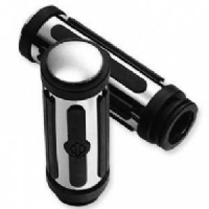 Chrome Rubber Hand Grips Large 56263-08