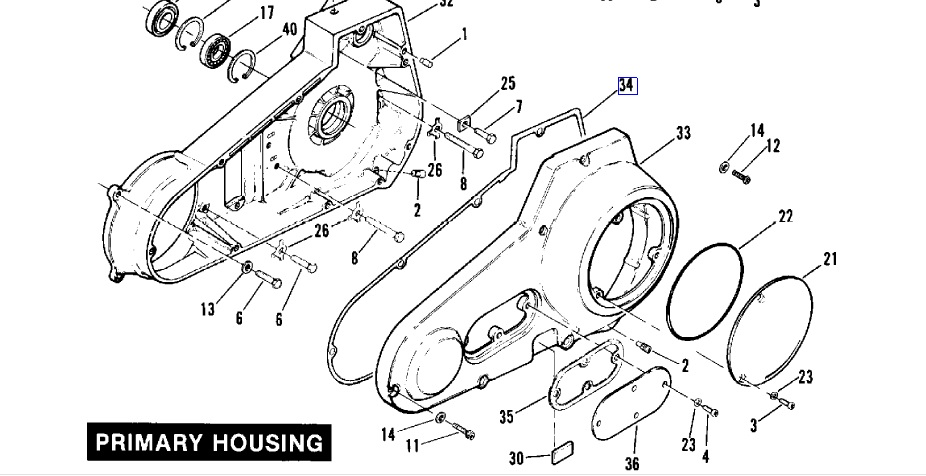 Gasket Primary Cover 60538-81E