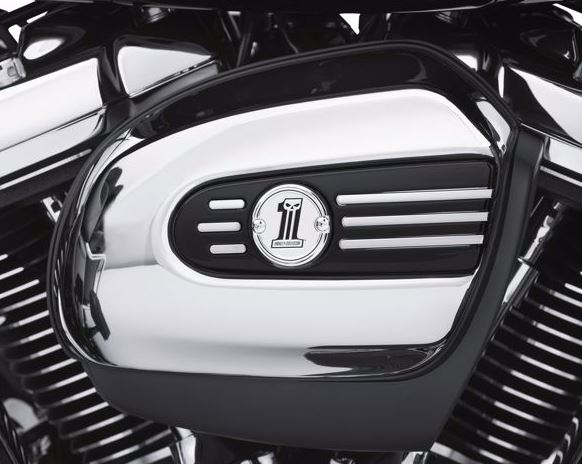 Number One Skull Air Cleaner Trim '17-later Milwaukee Eight Models 61300657