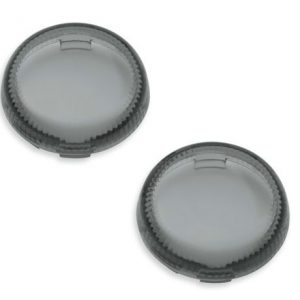 Lenses For LED Bullet Turn Signal Inserts (smoked) - 67800643