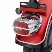 LED Tail Lamp with Bar & Shield Logo - Red Lens with Chrome Housing  68085-08