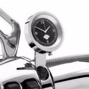 Clutch Lever Bracket Clamp Clock - Black