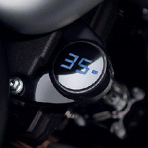 Digital Oil Pressure Gauge - Gloss Black