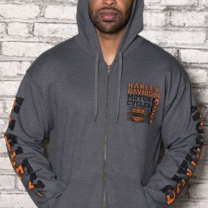 MEN'S HARLEY-DAVIDSON ZIP HOODY GRAVEL ROAD 18898