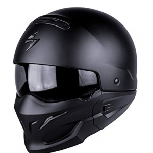Scorpion exo-combat Motorbike Helmet, Matt Black 82-100-10-04