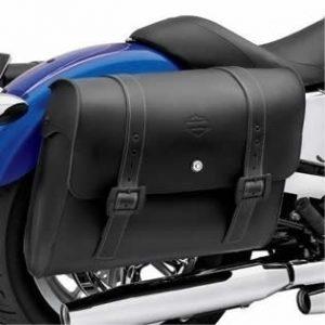 Det. Locking Leather Saddlebags - 88358-10