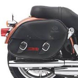 Detachable Leather Saddlebags 90181-08A.