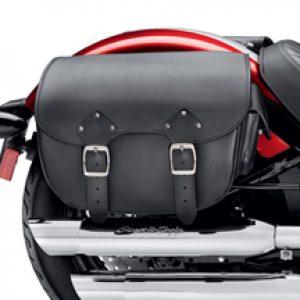 Detachable Leather Saddlebags - Softail Slim and Blackline