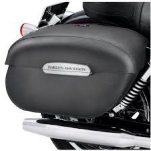 Rigid Locking Leather Saddlebags - 91615-09A