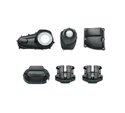 Gloss Black Engine Cover Kit – Milwaukee-Eight Powertrain 92500059