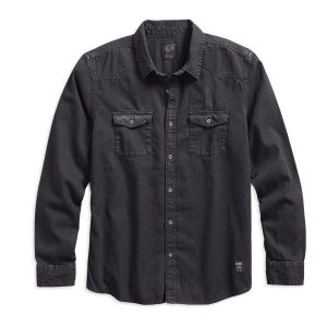 MEN'S HARLEY-DAVIDSON DENIM SHIRT 96590-17VM