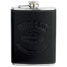 MEN'S ROLL YOUR OWN SKULL LOGO BLACK FLASK  96892-17V