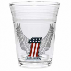 HARLEY-DAVIDSON WINGED 1.5 OZ. TASTER GLASS 96873-17V