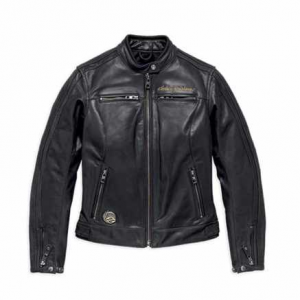 WOMEN'S H-D 115TH ANNIVERSARY EAGLE CE-CERTIFIED LEATHER JACKET 98016-18EW