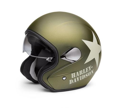 Helmet 3/4 Retro, Military Green - 98241-16EM