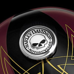 Skull Fuel Cap Medallion 99670-04