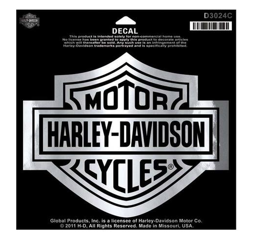 HARLEY-DAVIDSON B&S CHROME DECAL 19.5X15.5 CM D3024C