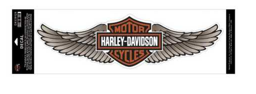 HARLEY-DAVIDSON STRAIGHT WING INSIDE DECAL TAN 48X14 CM DX339129