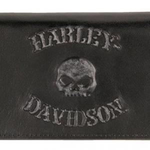 Men's Bad Company Skull Trucker Leather Wallet HD16829