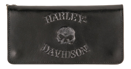 Men's Bad Company Skull Trucker Leather Wallet HD16829