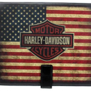 HERITAGE B&S WITH US FLAG LEATHER IPAD COVER HOLE HDMTC10530