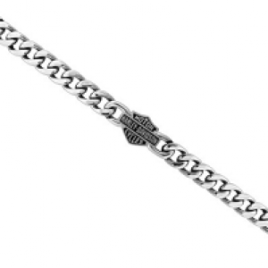 MEN'S STEEL CLASSIC B&S CHAIN LINK BRACELET HSB0015