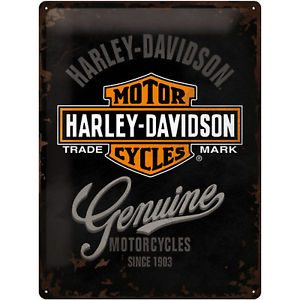 HARLEY DAVIDSON, TIN SIGN  30x40 GENUINE LOGO 23125