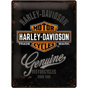 HARLEY DAVIDSON, TIN SIGN  30x40 GENUINE LOGO 23125