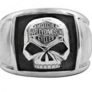 HD® MEN'S STEEL WILLIE G SKULL CIGAR BAND RING BY MOD JEWERLY® HSR0020