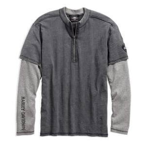 HARLEY DAVIDSON® MEN'S ARCHIVE CLASSIC JERSEY WITH ZIP