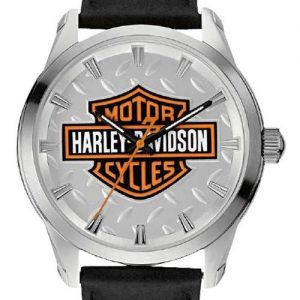 MEN'S H-D  B&S WATCH WITH DIAMOND PLATE 76A145