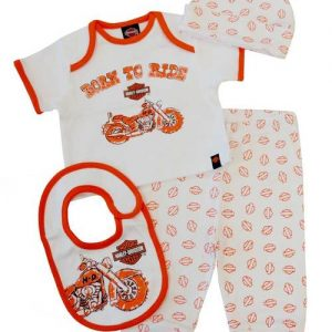 HARLEY-DAVIDSON® BABY 4 PIECE BOXED GIFT SET
